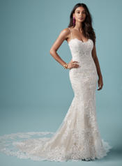 9MS903 Ivory over Blush gown with Ivory Illusion front