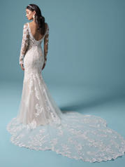 20MS697 Ivory Over Nude (gown With Nude Illusion) back