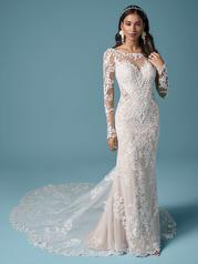 20MS697 Ivory Over Nude (gown With Nude Illusion) front