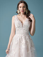 20MS729MC Ivory/Blush Accent Over Champagne (gown With Nude  detail