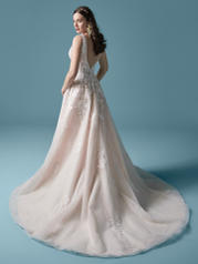 20MS729MC Ivory/Blush Accent Over Champagne (gown With Nude  front