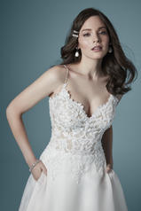 20MC274 Ivory gown with Nude Illusion detail