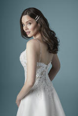 20MC274 Ivory gown with Nude Illusion back