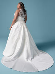 20MS645 Ivory (gown With Nude Illusion) (pictured) back