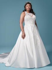 20MS645 Ivory (gown With Nude Illusion) (pictured) front