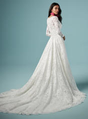 9MN860 Ivory gown with Nude Illusion back