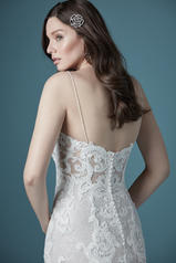 20MS310 All Ivory gown with Ivory Illusion back