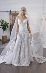 20MS310 All Ivory gown with Ivory Illusion front