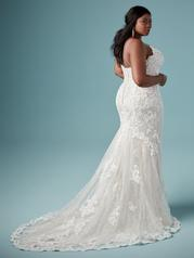 8MS794AC Ivory gown with Nude Illusion back