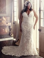 8MS794AC Ivory gown with Nude Illusion front