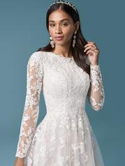 20MS682 Ivory Over Light Champagne (gown With Nude Illusio detail