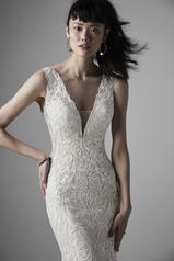 20SN187 Ivory Over Champagne Gown With Nude Illusion detail