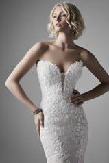 20SS266 Ivory Gown With Nude Illusion detail