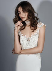 Kai By Sottero And Midgley Ivory/Pewter Accent front