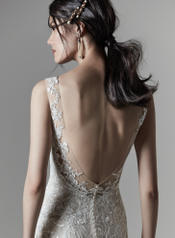 9SN866 Ivory gown with Nude Illusion detail