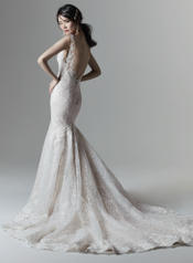 9SN866 Ivory gown with Nude Illusion front