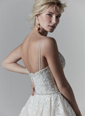 9SS869 Ivory gown with Ivory Illusion detail