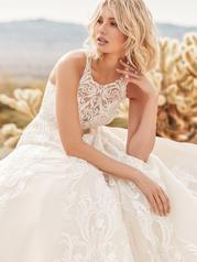 9SS895 All Ivory gown with Ivory Illusion detail