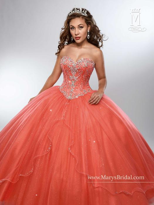 Marys Bridal - Strapless Embellished Tulle Ball Gown