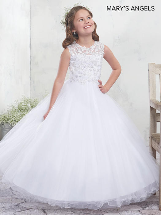 Marys Bridal - Illusion Lace Bodice Kids Ball Gown