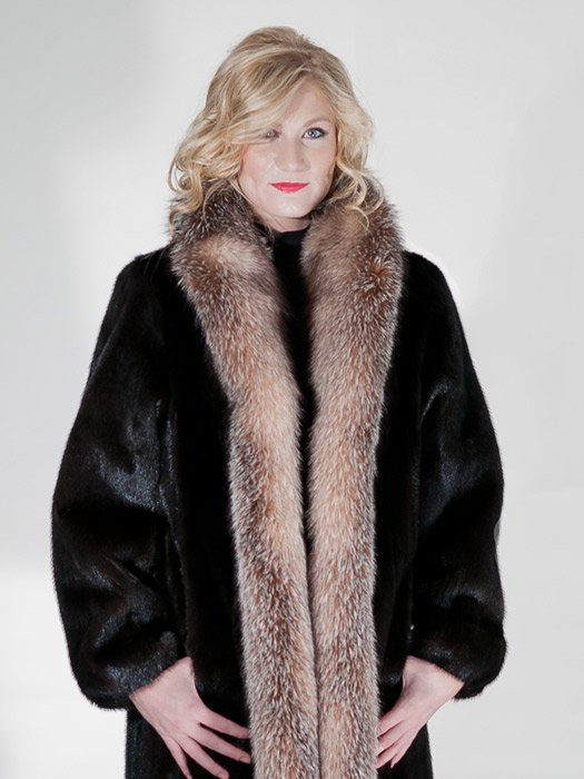 Mah Mink Coat W/ Fox Trim