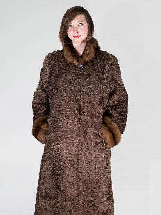 Persian Coat W/ Sable Trim
