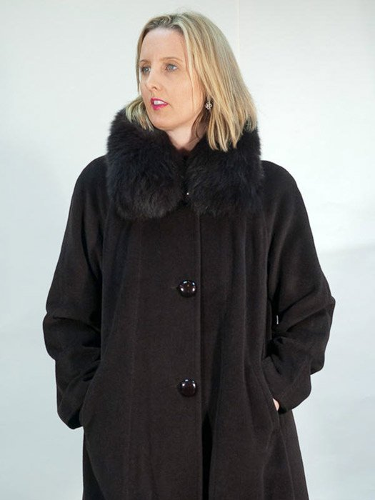 Cashmere Coat w/ Fox Collar
