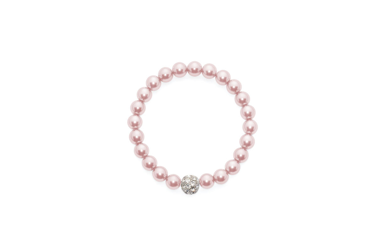 David Tutera Embellish Sydney_Crystal_Ball_Bracelet-Pink