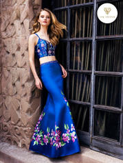 3222RG Print/Royal Blue front