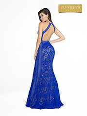 3773RD Royal Blue/Nude back