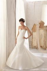 5211 by Mori Lee Ivory/Silver front