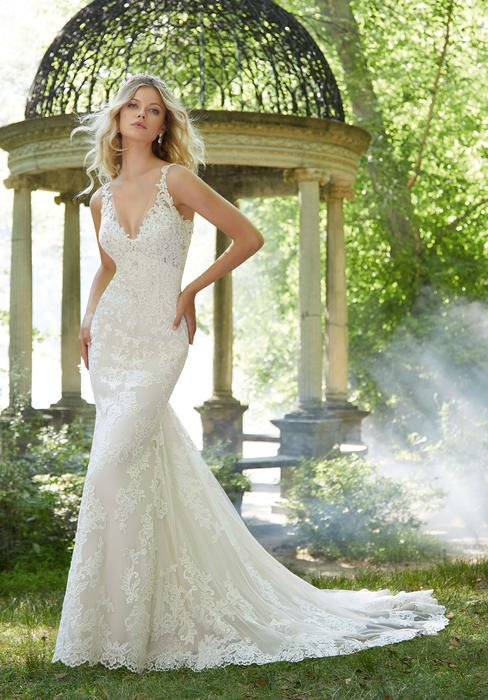 Morilee - V-Neck Lace Bridal Gown