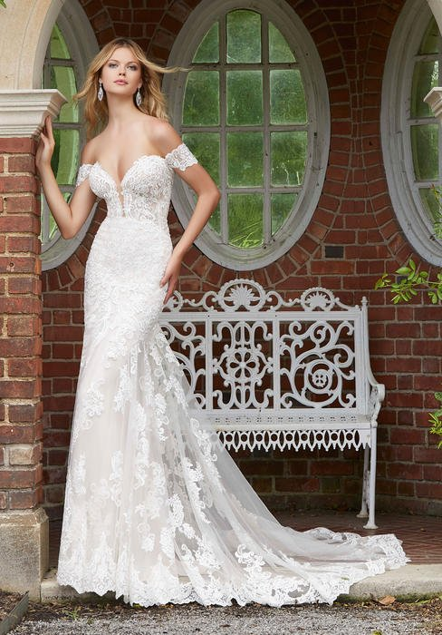 Morilee - Off-Shoulder Lace Bridal Gown
