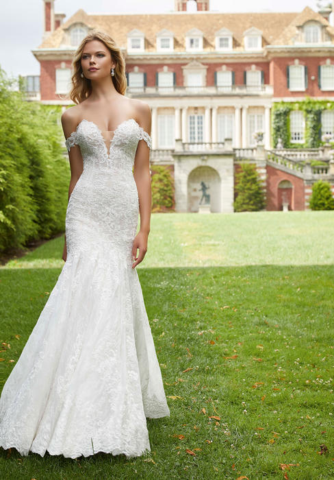 Morilee - Off-Shoulder Lace Fit & Flare Bridal Gown