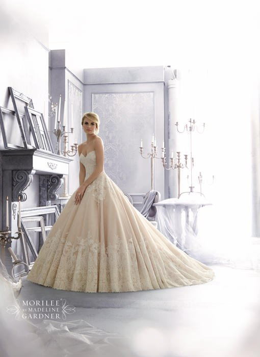 Morilee - Strapless Lace & Organza Ball Gown