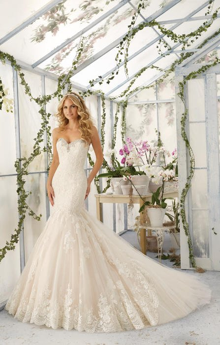 Morilee - Strapless Embroidered Tulle Mermaid