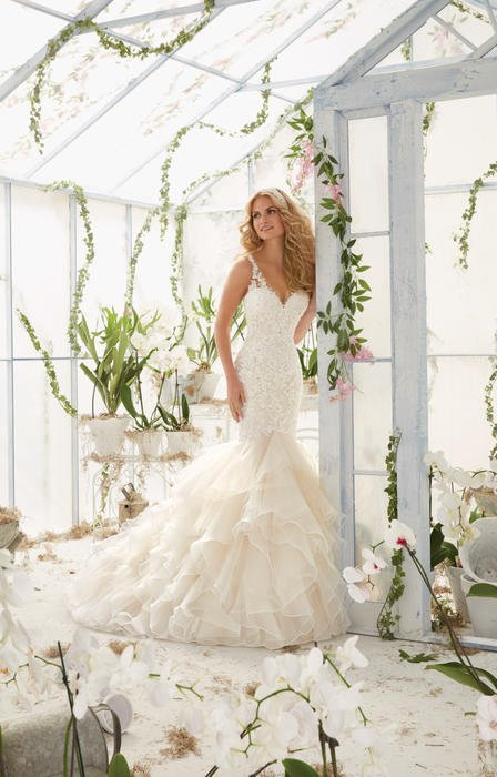 Morilee - Embroidered Organza & Tulle Mermaid