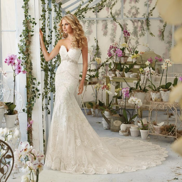 Morilee - Strapless Embroidered Sweetheart