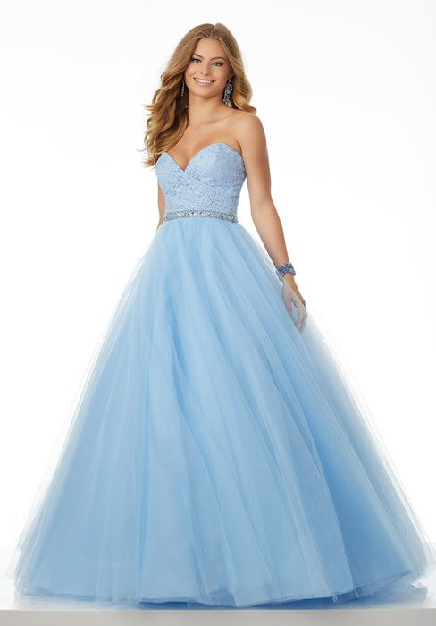 Morilee - Lace Sweeheart Bodice Tulle Ball Gown