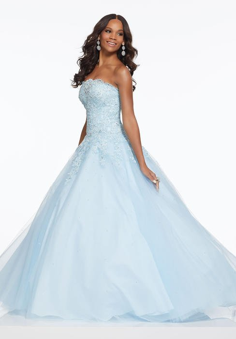 Morilee - Beaded Lace Bodice Tulle Ball Gown