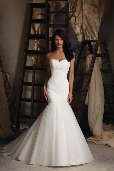 Morilee - Strapless Ruched Tulle Mermaid
