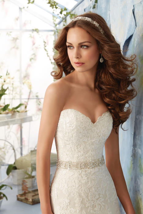 Morilee - Strapless Embroidered Sweetheart A-Line