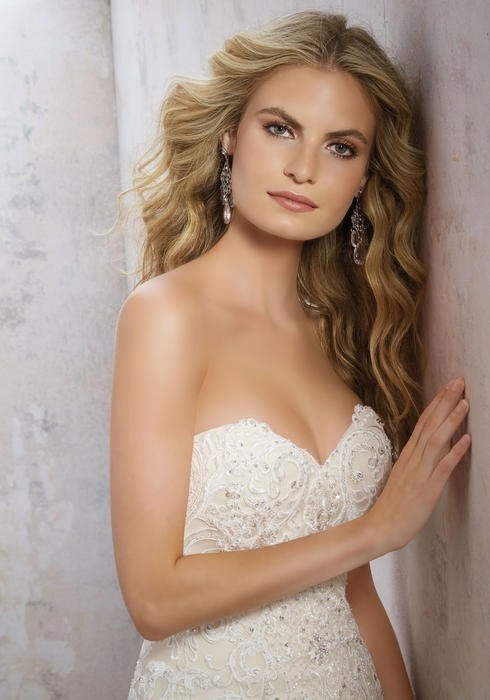 Morilee - Strapless Embroidered A-Line