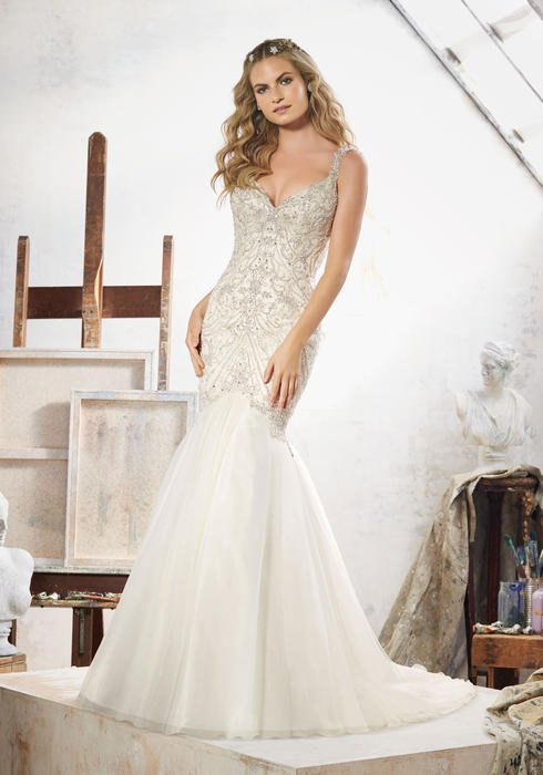 Morilee - DISCEmbellished Tulle V-Neck Mermaid