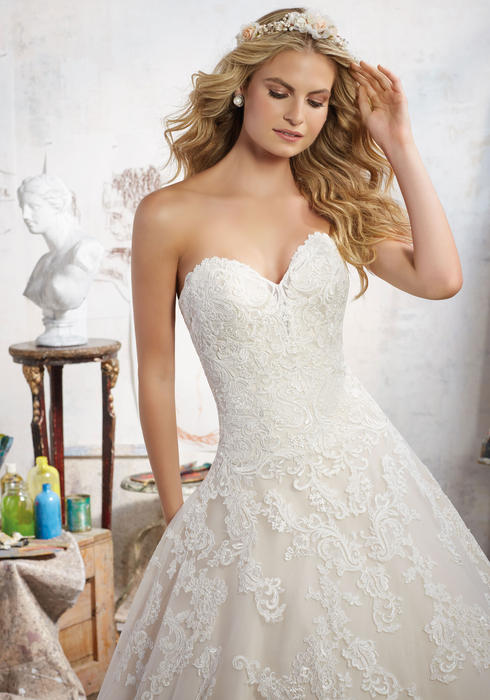 Morilee - Embroidered Sweetheart A-Line
