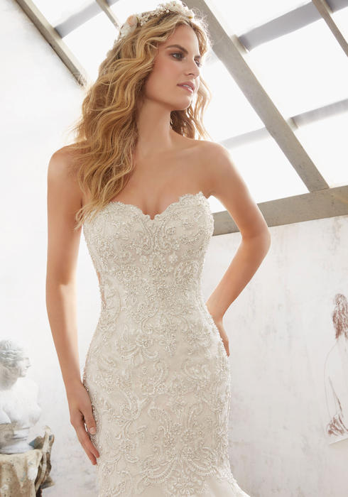 Morilee - Strapless Embroidered Sweetheart Mermaid