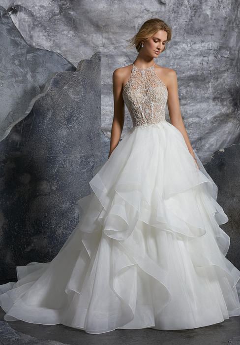 Morilee - Beaded Embroidery on Flounced Organza Ball Gown