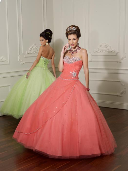 Morilee - Strapless Embellished Tulle Ball Gown