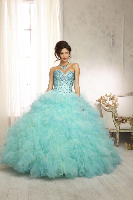 Morilee - Strapless Ruffled Tulle Ball Gown