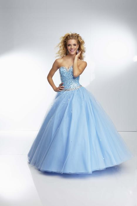 Morilee - Strapless Beaded Ball Gown